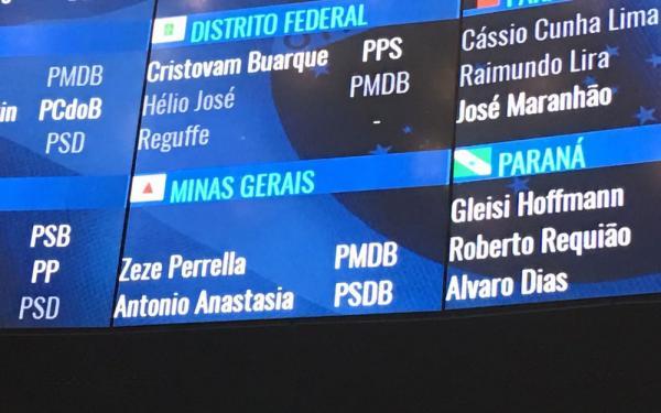 Senado retira nome de Aécio Neves do painel de votações