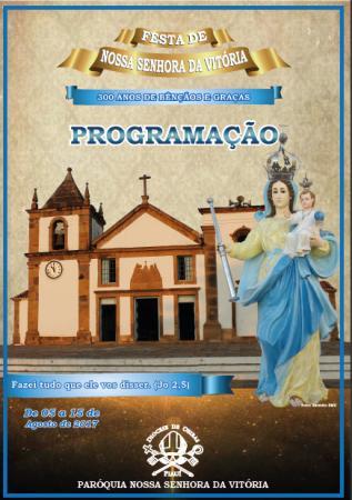 Paróquia de Nossa Senhora da Vitória divulga a programação da Festa da Padroeira da diocese, de Oeiras e do Piauí