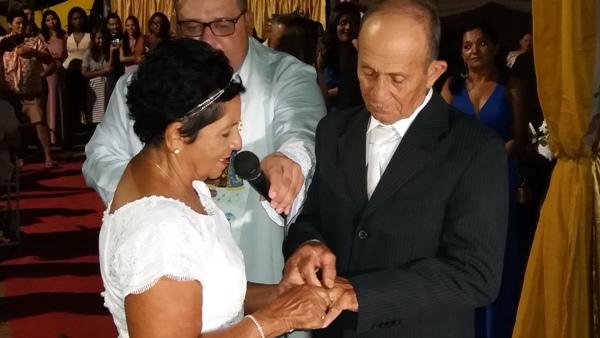 José de Ciro e Maria Raimunda renovam votos matrimoniais