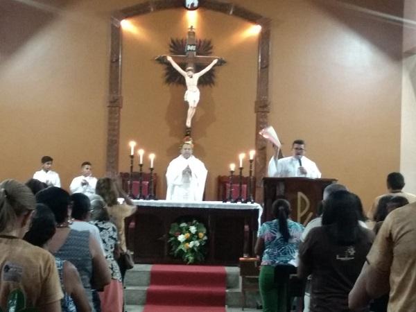 Terceira noite de novena e missa a São Francisco em Campinas Piauí