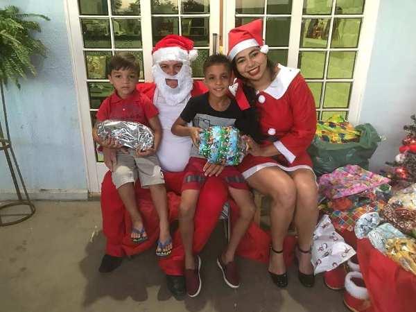 Prefeito e primeira-dama realizam natal das crianças em Santo Inácio