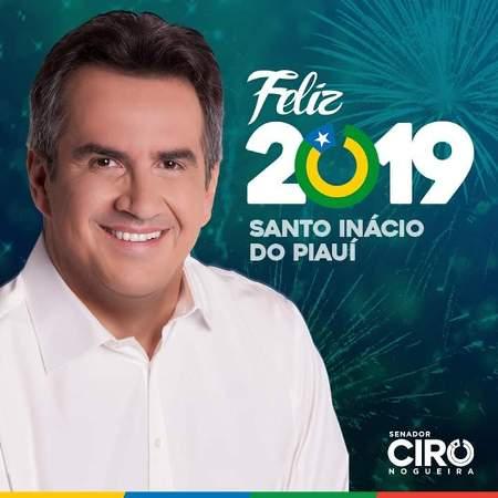 Senador Ciro nogueira deixa mensagem de ano novo ao povo de Santo Inácio