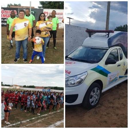 Início de campeonato têm futebol e entrega de ambulância em Santo Inácio