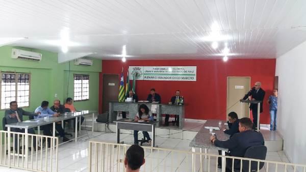 Prefeito participa da abertura dos trabalhos da Câmara municipal em Santo Inácio