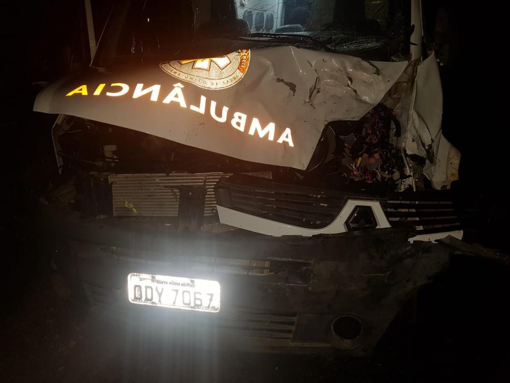 Acidente com ambulância do SAMU de Santo Inácio do Piauí